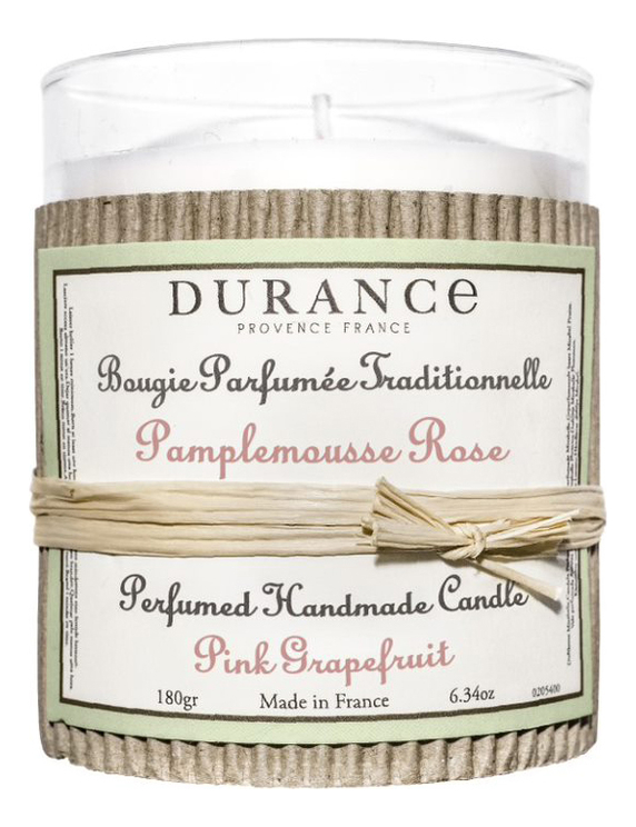 Купить Ароматическая свеча Perfumed Handmade Candle Pink Grapefruit 180г (розовый грейпфрут), Durance