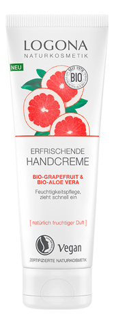 Купить Крем для рук с Био-грейпфрутом и Био-алоэ вера Erfrischende Hand Creme 75мл, Logona