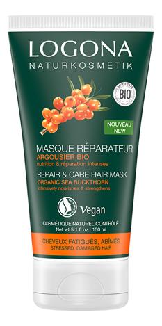 Купить Маска для волос с Био-облепихой Repair & Care Hair Mask 150мл, Маска для волос с Био-облепихой Repair & Care Hair Mask 150мл, Logona