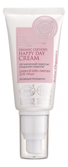 Купить Дневной крем-лифтинг для лица Organic Certified Happy Day Cream Anti-Age 50мл, Natura Siberica