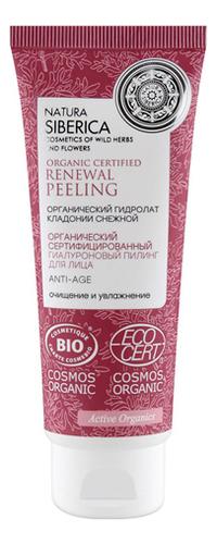 Купить Гиалуроновый пилинг для лица Organic Certified Renewal Peeling Anti-Age75мл, Natura Siberica