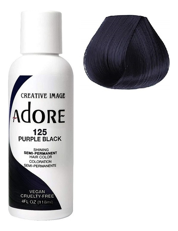 Купить Краска для волос Adore Hair Color 118мл: 125 Purple Black, Creative Image Systems