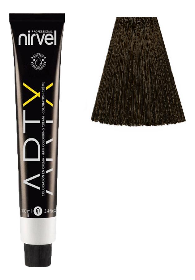 Купить Краска для волос на основе протеинов пшеницы Color ARTX 100мл: 4-77 Табачный каштановый средний, Nirvel Professional
