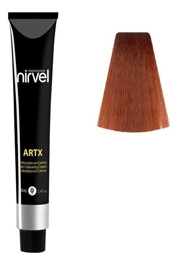 Краска для волос на основе протеинов пшеницы Color ARTX 100мл: 7-4 Медный средний блондин недорого