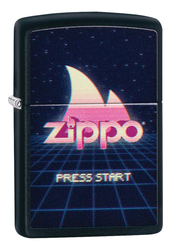 Зажигалка бензиновая Classic Black Matte 49115 zippo classic зажигалка бензиновая gambling skull black matte
