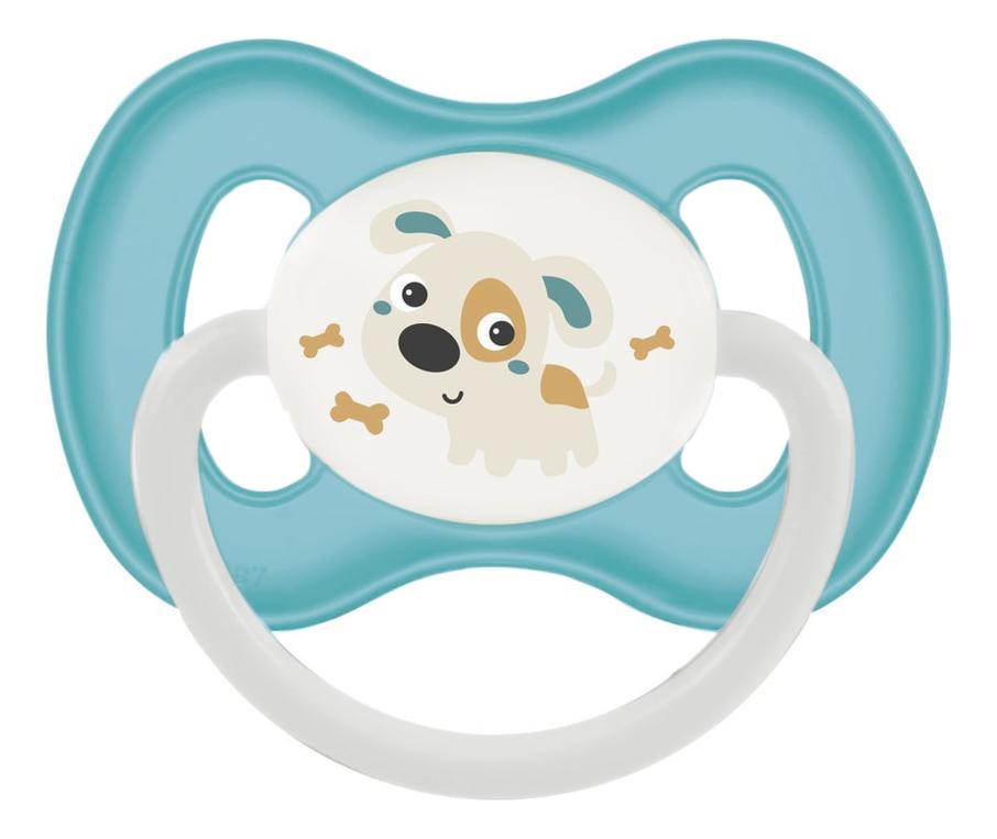 Купить Пустышка симметричная силиконовая 0-6мес Bunny & Company (бирюзовая), Пустышка симметричная силиконовая 0-6мес Bunny & Company (бирюзовая), Canpol Babies