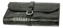 Truefitt & Hill Кожаная дорожная косметичка Military Roll Up Wet Pack Black Crocodile