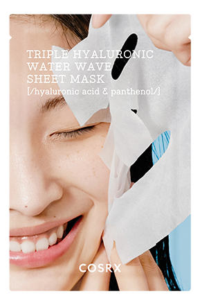 Купить Интенсивно увлажняющая тканевая маска для лица Triple Hyaluronic Water Wave Sheet Mask 21мл, COSRX