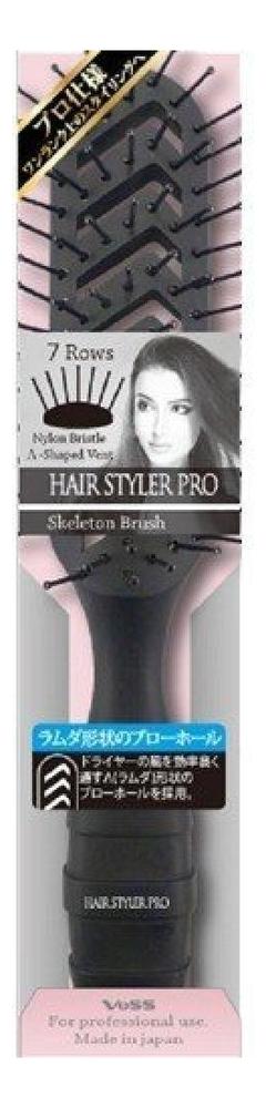 Купить Профессиональная расческа для укладки волос Skelton Brush (черная), VESS