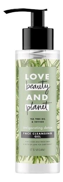 Гель для умывания c маслом чайного дерева и ветивера Invigorating Detox Face Cleansing Gel 115мл
