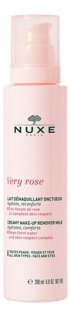 Купить Молочко для снятия макияжа Very Rose Lait Demaquillant Onctueux 200мл, NUXE