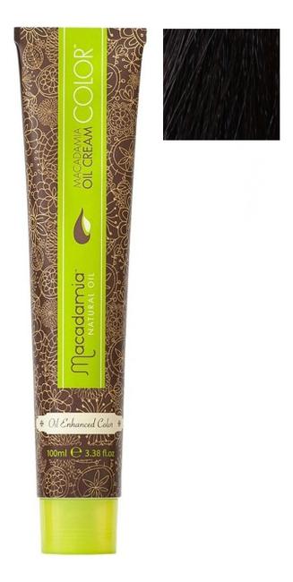 Купить Краска для волос Oil Cream Color 100мл: 55.0 Светлый экстра яркий каштановый, Macadamia