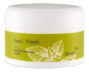 Купить Увлажняющий крем-гель для лица Real Fresh Vegan Intensive Soothing Cream 100г, Deoproce