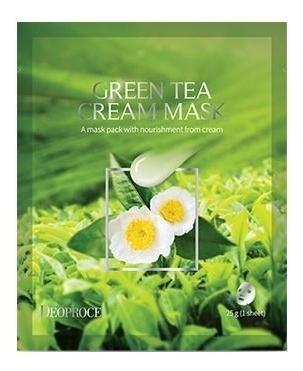 Фото - Тканевая маска с экстрактом зеленого чая Green Tea Cream Mask 25г тканевая маска для лица с экстрактом зеленого чая green tea essence mask 21г