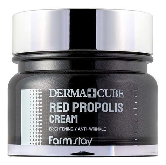 Купить Питательный крем для лица с прополисом и экстрактом гибискуса Derma Cube Red Propolis Cream 80мл, Farm Stay