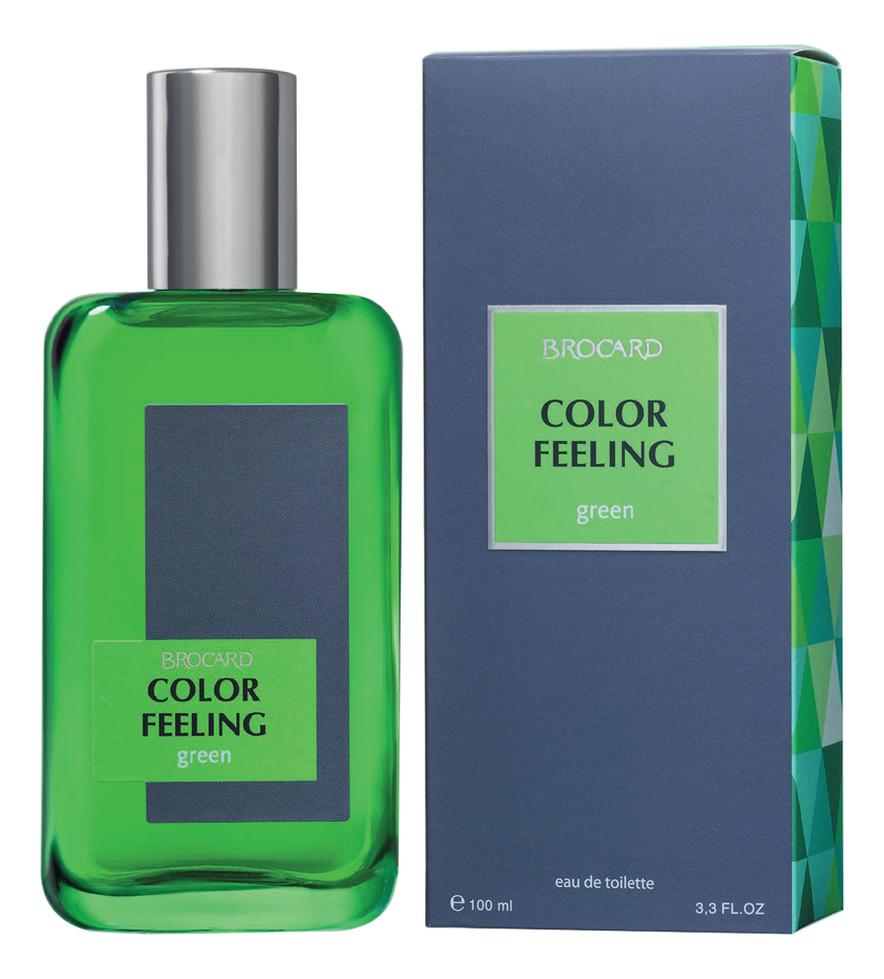 Купить Color Feeling Green: туалетная вода 100мл, Brocard