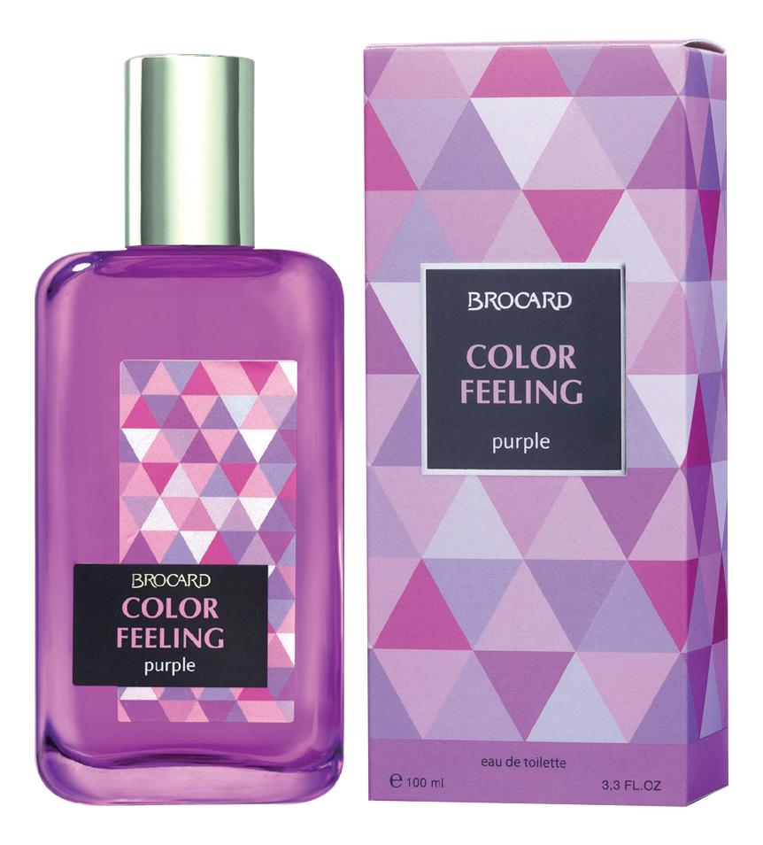 Купить Color Feeling Purple: туалетная вода 100мл, Brocard