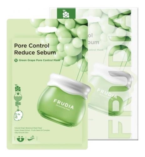 Купить Тканевая маска с экстрактом зеленого винограда Green Grape Pore Control Mask 20мл: Маска 10шт, Frudia