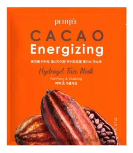 Гидрогелевая маска для лица с экстрактом какао Cacao Energizing Hydrogel Face Mask: Маска 32г успокаивающая увлажняющая гидрогелевая маска для лица с коллагеном aqua collagen hydrogel mask 25г