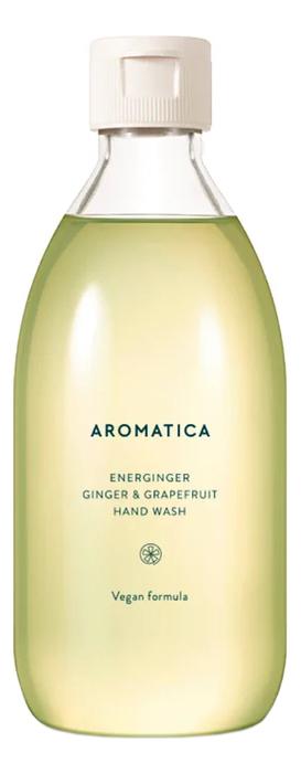 Фото - Жидкое мыло для рук с экстрактом имбиря и грейпфрута Energinger Hand Wash Ginger & Grapefruit: Мыло 300мл жидкое мыло для рук с ароматом лайма и имбиря чистота и свежесть 250мл