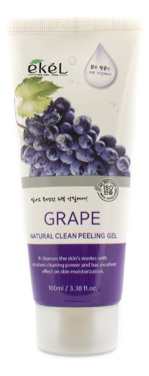 Купить Пилинг-скатка для лица с экстрактом винограда Grape Natural Clean Peeling Gel: Пилинг-скатка 100мл, Ekel