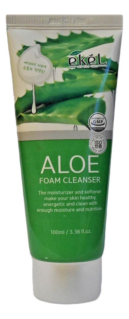 Пенка для умывания с экстрактом алоэ вера Foam Cleanser Aloe: Пенка 100мл гидрофильное масло пенка для умывания с экстрактом вишни cherry blossom oil to foam cleanser 100мл