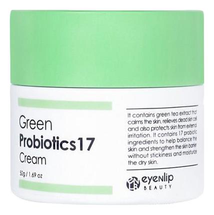 Купить Крем для лица с пробиотиками и экстрактом зеленого чая Green Probiotics 17 Cream 50г, Eyenlip