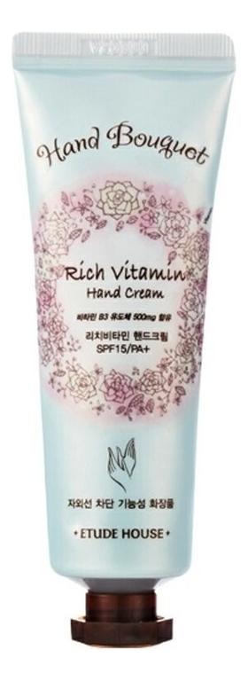 Купить Крем для рук витаминный Hand Bouquet Rich Vitamin Hand Cream 50мл, Etude House