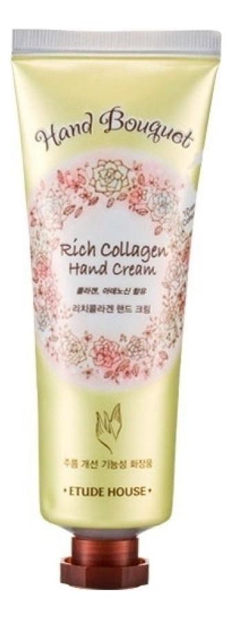 Купить Крем для рук с коллагеном Hand Bouquet Rich Collagen Hand Cream 50мл, Etude House