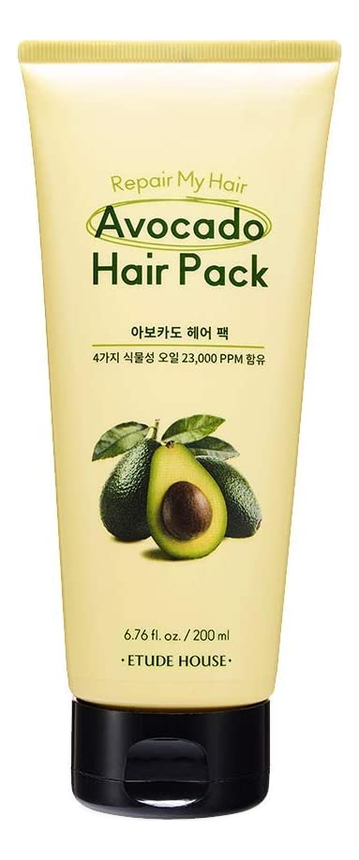 Купить Маска для волос с маслом авокадо Repair My Hair Avocado Hair Pack 200мл, Etude House