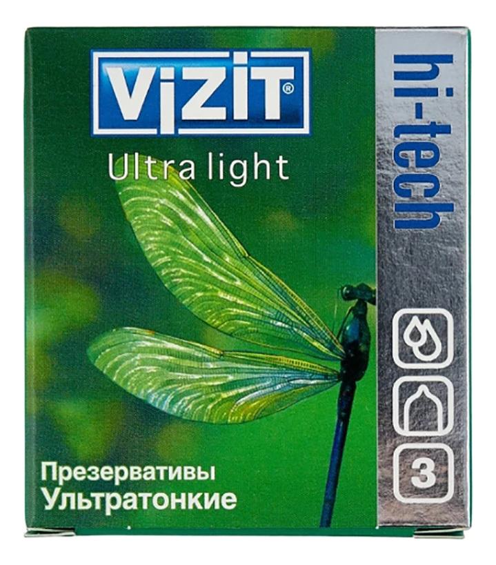 Купить Презервативы ультратонкие Hi-Tech Ultra Light: Презервативы 3шт, VIZIT