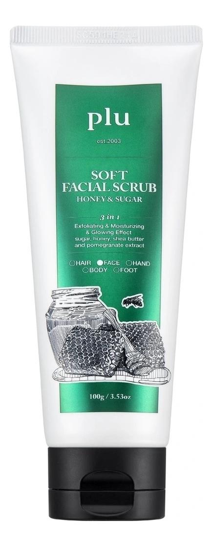 Увлажняющий скраб для лица с медом Soft Facial Scrub Honey & Sugar 100г