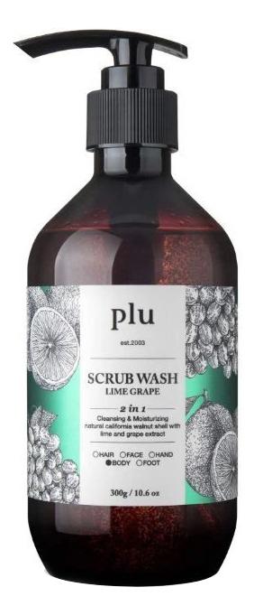 Скраб-гель для душа Scrub Wash Lime Green Grape: Скраб-гель 300мл