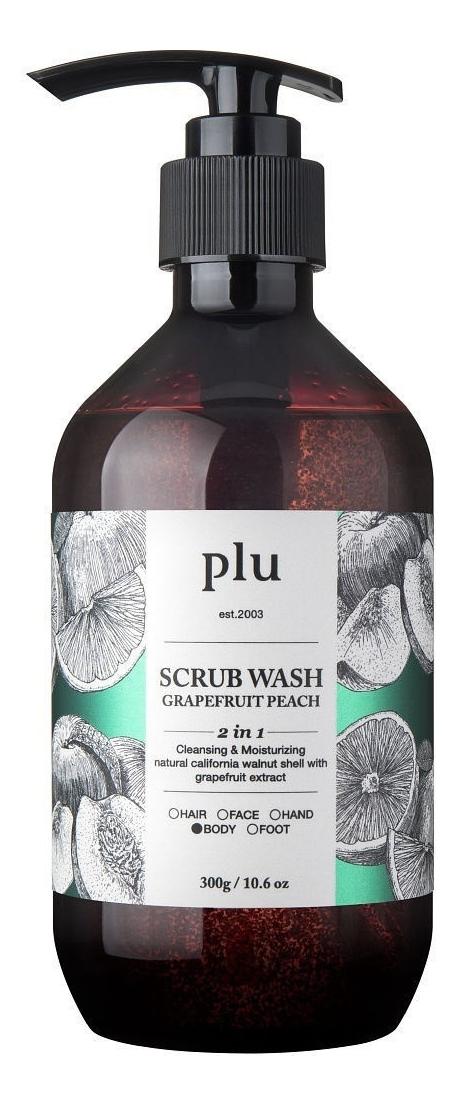 Скраб-гель для душа Scrub Wash Grapefruit Peach: Скраб-гель 300мл