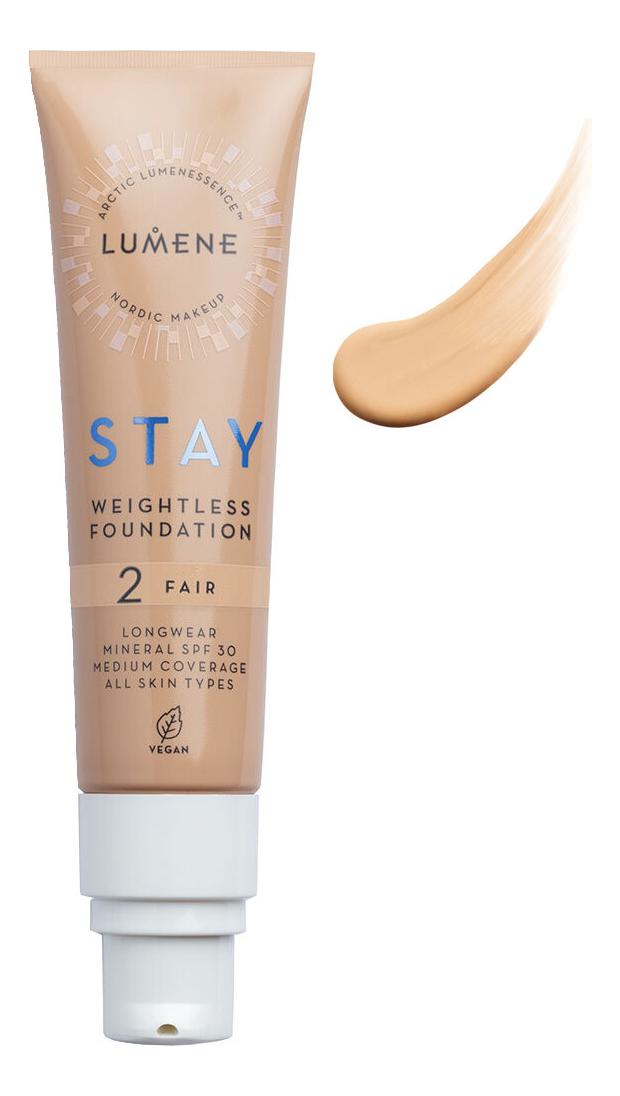 Устойчивый невесомый тональный крем для лица Stay Weightless Foundation SPF30 30мл: 2 Fair тональный крем match perfection 30мл 082 fair beige