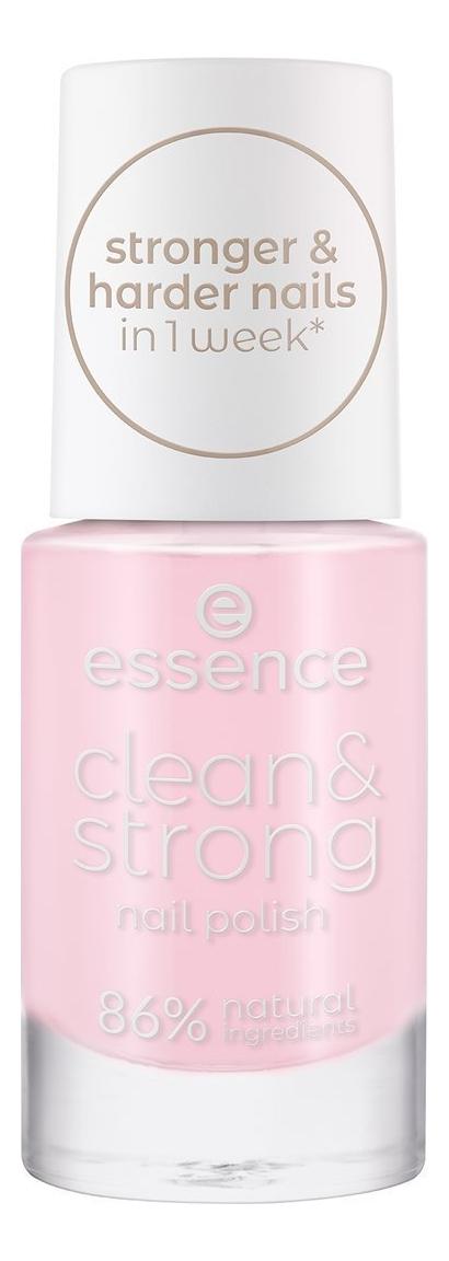 Купить Лак для ногтей Clean & Strong 8мл: 01 Pink Clouds, Лак для ногтей Clean & Strong 8мл, essence