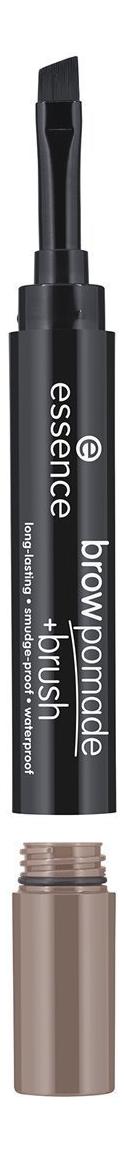 Помада для бровей с кисточкой Brow pomade + Brush 1,2г: 02 Ash Blonde карандаш помада для бровей brow pomade 3 25г 02 chatain