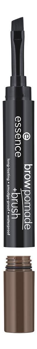 Помада для бровей с кисточкой Brow pomade + Brush 1,2г: 04 Dark Brown карандаш помада для бровей brow pomade 3 25г 02 chatain