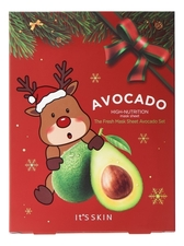It's Skin Набор тканевых масок для лица с экстрактом авокадо The Fresh Mask Sheet Avocado Global New Year 5*18г