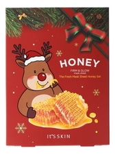 It's Skin Набор тканевых масок для лица с медом The Fresh Mask Sheet Honey Global New Year 5*18г
