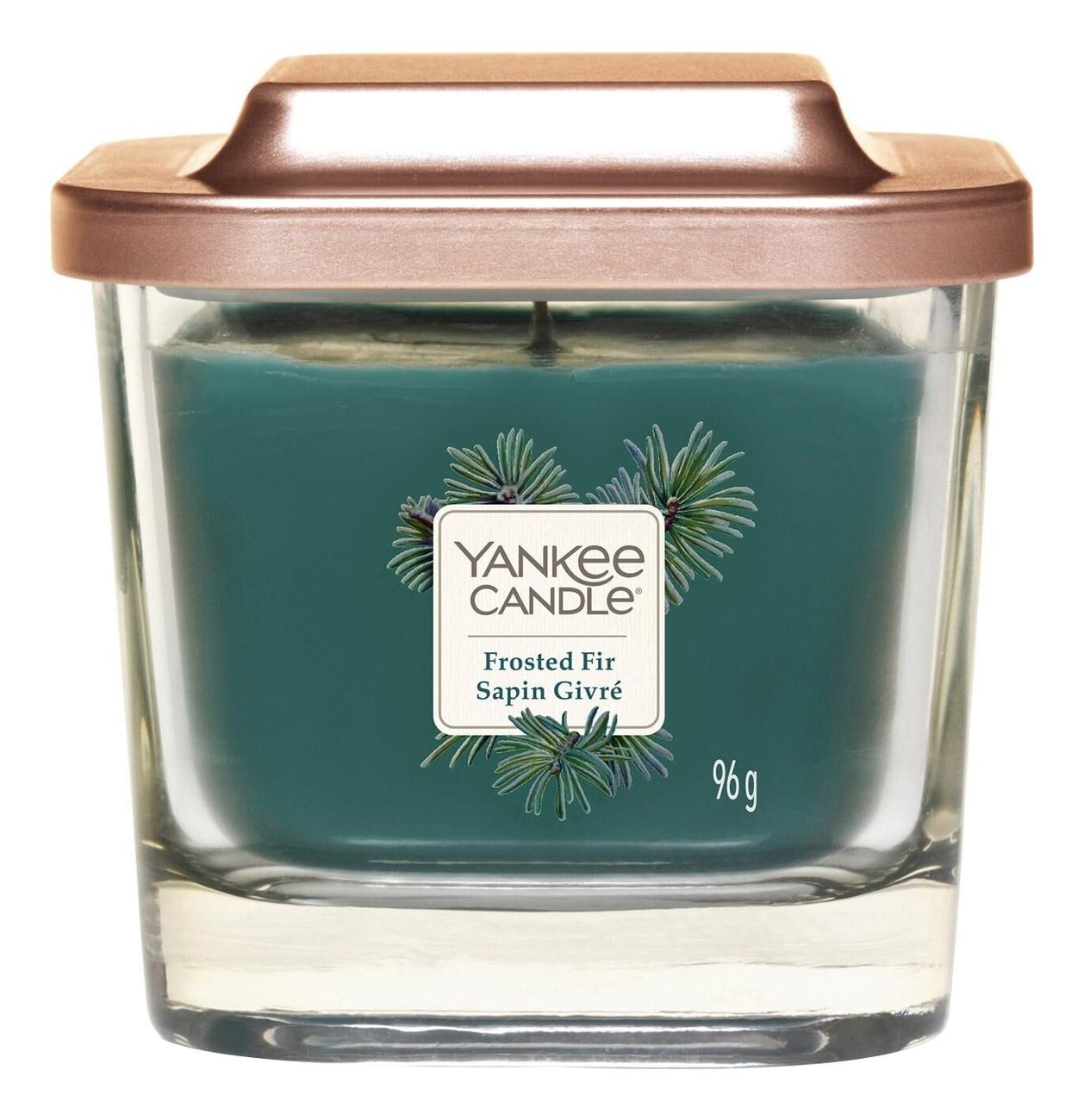 Купить Ароматическая свеча Frosted Fir: Свеча 96г, Yankee Candle