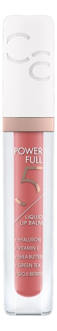 Бальзам для губ Powerfull 5 Liquid Lip Balm 4,5мл: 040 Raspberry Cream бальзам для губ sheer beautifying lip balm 4 5г 040 watermelonade