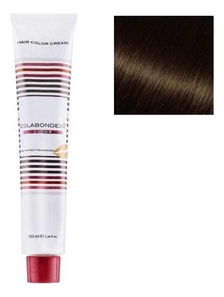 Купить Крем-краска для волос Color 100мл: 4.77 Интенсивно-коричневый средний каштан, ESLABONDEXX