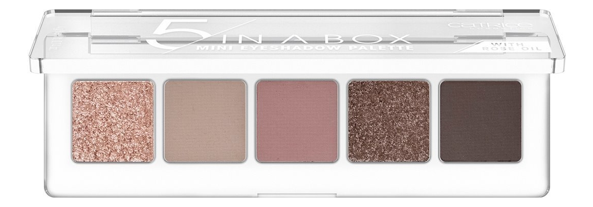 Палетка теней для век 5 In A Box Mini Eyeshadow Palette 4г: 020 Soft Rose Look недорого