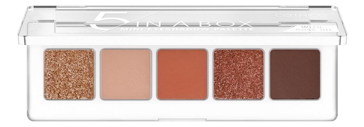 Купить Палетка теней для век 5 In A Box Mini Eyeshadow Palette 4г: 030 Warm Spice Look, Catrice Cosmetics