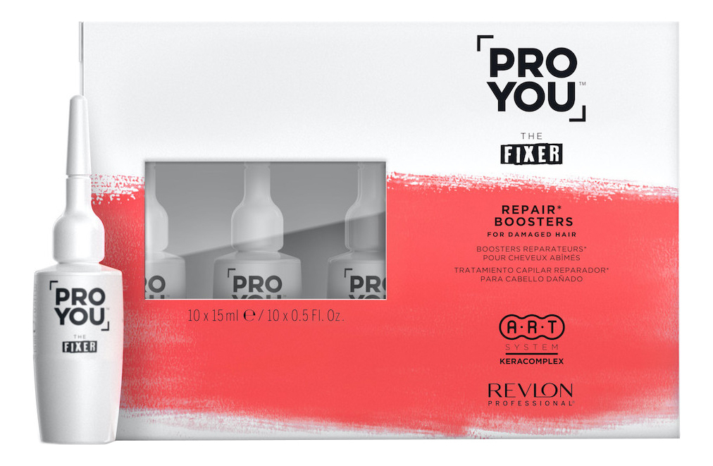 Восстанавливающий бустер для поврежденных волос Pro You The Fixer Repair Boosters: Бустер 10*15мл