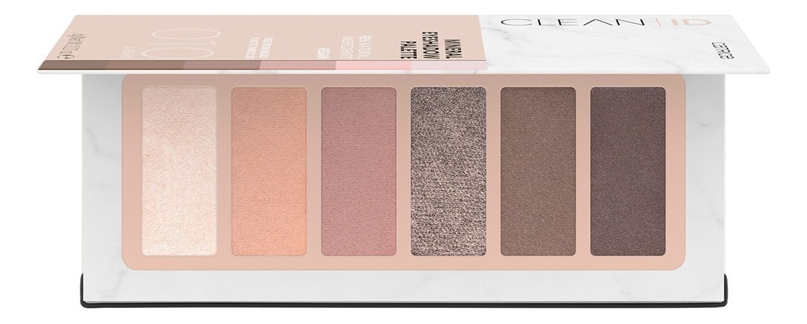 Фото - Палетка теней для век Clean ID Mineral Eyeshadow Palette 6г: 010 Light палетка теней для век 32 eyeshadow palette 20г flawless