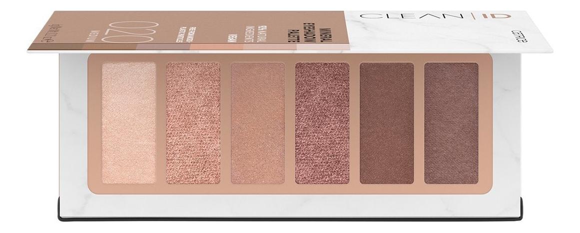 Палетка теней для век Clean ID Mineral Eyeshadow Palette 6г: 020 Medium недорого