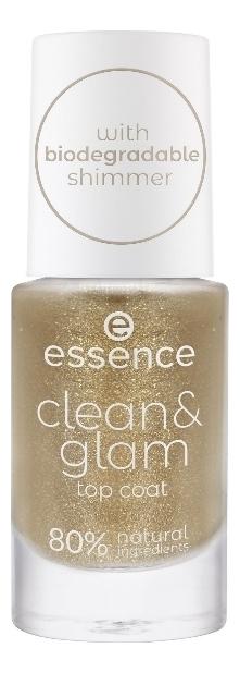 Купить Верхнее покрытие для ногтей Clean & Glam 8мл, Верхнее покрытие для ногтей Clean & Glam 8мл, essence