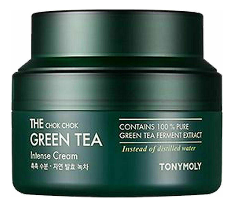 Купить Крем для лица с экстрактом зеленого чая The Chok Chok Green Tea Intense Cream: Крем 60мл, Tony Moly